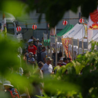 Hirafu Matsuri hidden in the green of summer.
